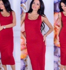Платье красный новое
