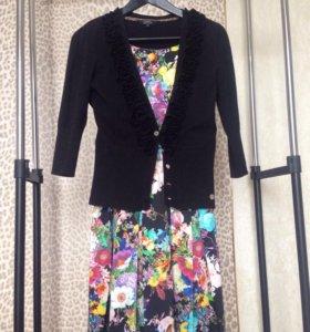 Комплект платье с кофтой