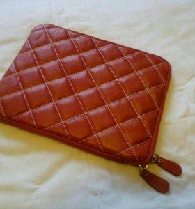 чехол кожаный для iPad,красный