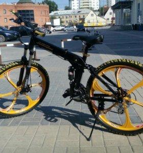 Модный велосипед Lamborghini на литых дисках