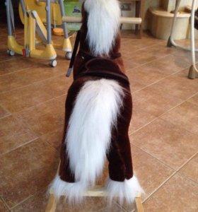 Детская лошадка качалка