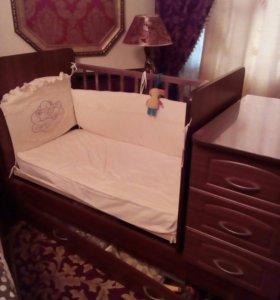Кроватка 3 в 1.