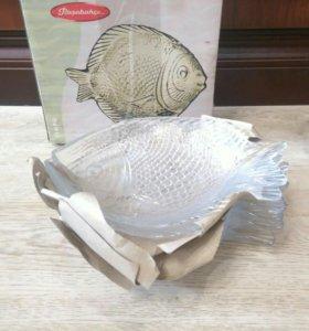 """НОВЫЙ Набор тарелок -блюд """"рыба"""", 6шт"""