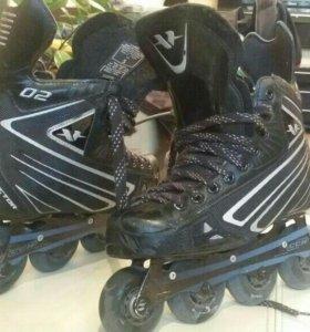Продам хоккейные ролики фирмы Bauer для тренировок