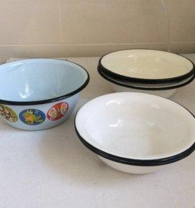 Тарелки эмалированные 6 штук.