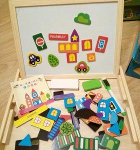 Игрушка деревянная магнитный планшет