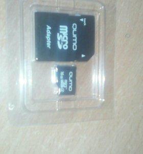 Продам micro SD карту памяти 16 гигабайт за 800 р