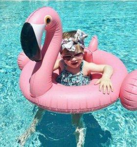 Детский надувной круг - фламинго