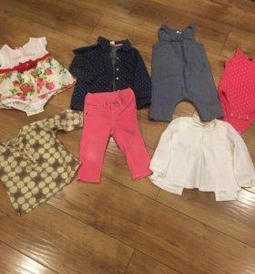 Одежда для малышки от 6 до 18 мес