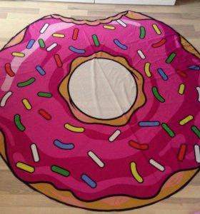 Покрывало для пляжа пирожное пончик