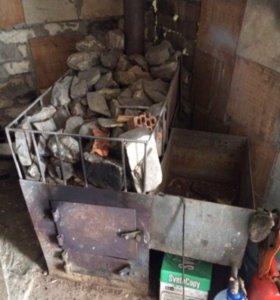Банная печь на дровах