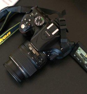 Зеркальный фотоаппарат Никон Д5200 + 18-55kit