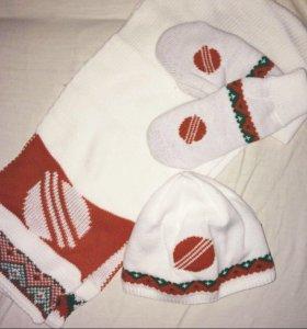 Шапка, шарф, варежки