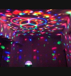 Диско шар и диско лампа