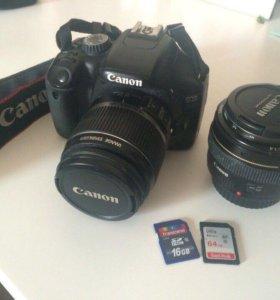 Фотоаппарат canon 550d и объектив canon 50mm