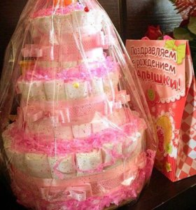 Торт в подарок 🎁 на выписку, день рождение малыша