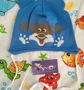 Детская шапочка/ Шапочка для мальчика/ Чепчик