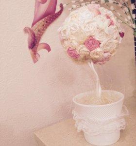 Топиарий для свадебного декора