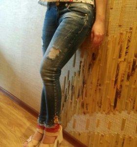 Новые женские джинсы скинни RAW 40 размер