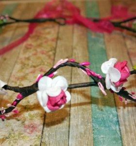 Венок из цветов на голову (ободок)