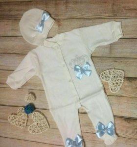 Новый нарядный комплект для новорожденных