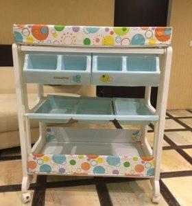 Пеленальный столик с ванночкой Cosatto Easi Peasi