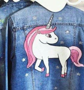 Роспись джинсовок, джинсовки с росписью