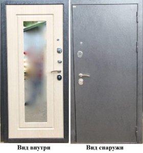 Стальная дверь с зеркалом дива мд 26