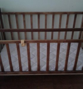 Кроватка, матрас, бортики,балдахин с крепежом, под
