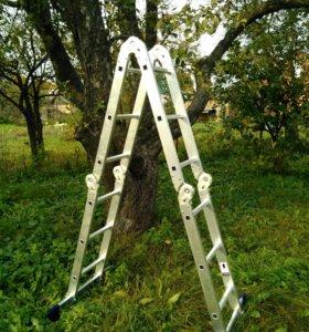 Лестница-трансформер СИБИН алюминиевая, 4 х 4