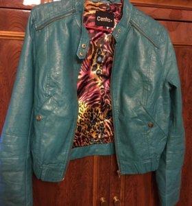 Куртка бирюзовая Centro иск кожа