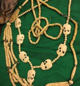 Колье 🐘 1940-50 гг Индия слоновая кость