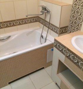 Установка акриловых ванн.