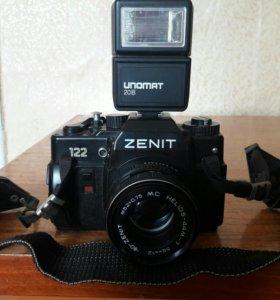 Фотоаппарат ZENIT 122 с фотовспышкой