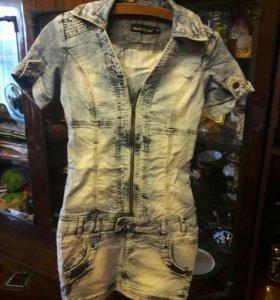 Платье джинсовое размер S