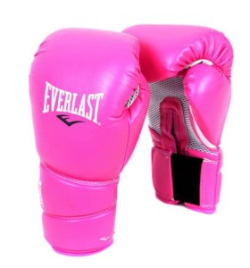 Продаются перчатки для бокса Everlast розовые