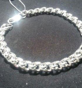 Новый серебрянный браслет