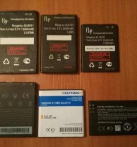 Батареи для телефонов (цену уточняйте)