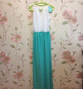 Платье шифоновое в пол (новое)