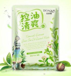 Тканевая маска Bioaqua с маслом чайного дерева.