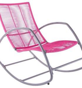 Кресло качалка металлическое новое зеленое