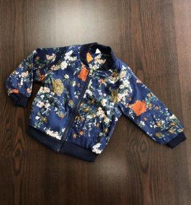 Модный бомбер куртка на девочку мальчика лето
