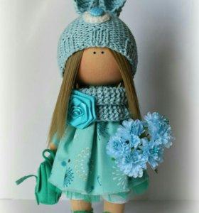 Интерьерная, текстильная куколка.