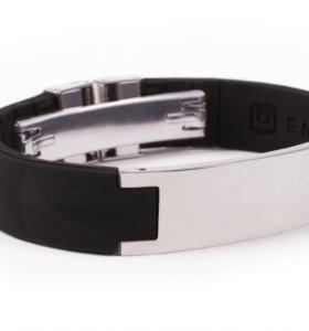 Энергетический браслет T1i чёрный/серебристый