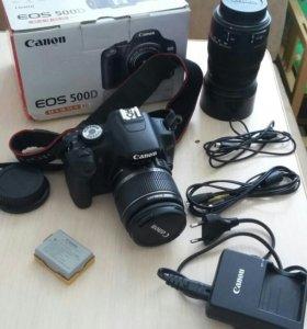 КамераEOS 500D и обьектив Sigma AF 50-200 mm