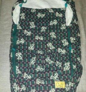Теплый конверт для малыша в коляску