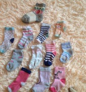 Носочки на малышку.