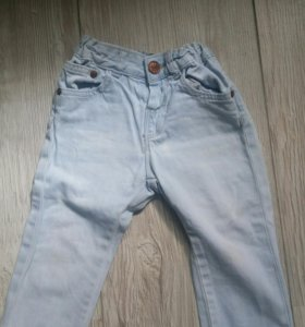 Детские джинсы, комбенезон