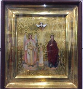 001-347 икона Святая Катюся равно Ангел Хранитель