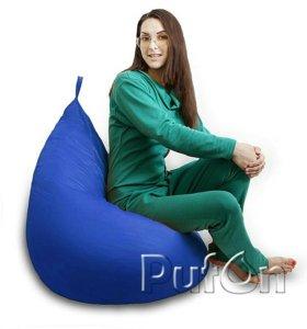 Кресло-мешок синий груша L